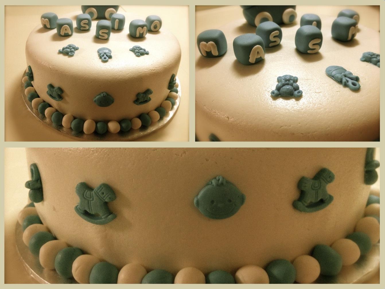 Torta Cake Design Torino : Prove di Cake-design: la torta battesimo ...