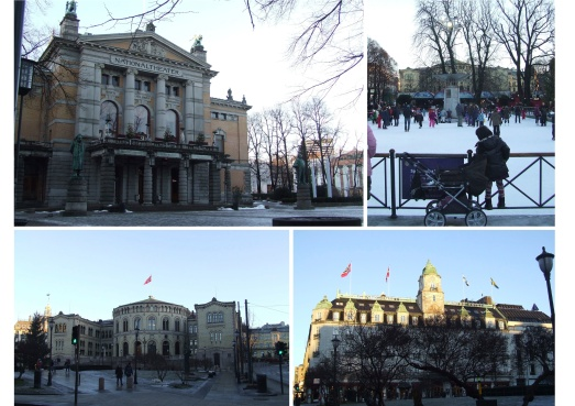 Eidsvolls Plass: National Theatre, Spikersuppa, Stortinget, Gran Caffè