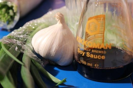 salsa soia e aglio