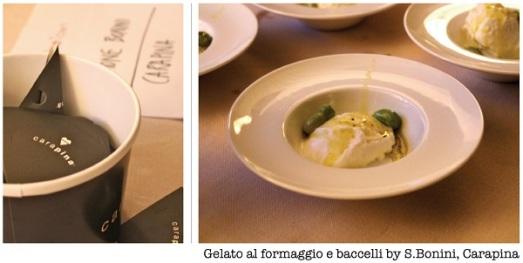 Gelato al formaggio Carapina Simone Bonini