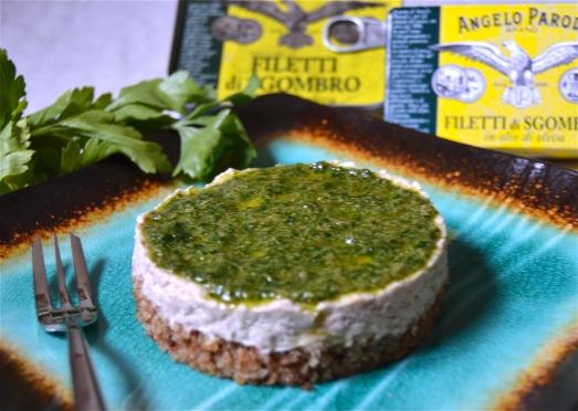 cheesecale salato di sgombro