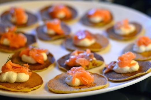 Blinis Russi con salmone