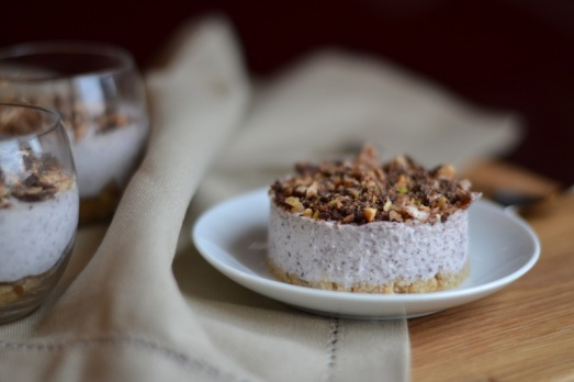 cheesecake mirtilli e torrone