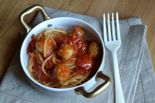 Meatball Tomato Spaghetti pomodori e polpette