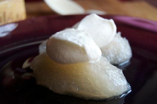 granita di cipolle e crema al parmigiano