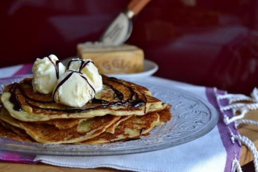 Pancakes Parmigiano Reggiano e Buontalenti