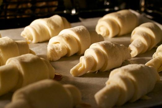 lievitazione dei croissant