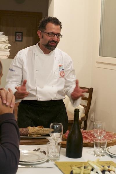 Chef Mario MArini Agriturismo Il Cielo di Strela